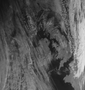 My first visible light Meteor LRPT weather satellite image